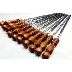 Шампура с деревянной ручкой из нержавеющей стали