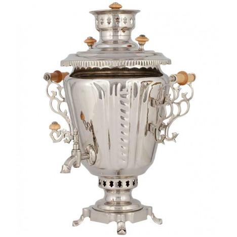 Самовар жаровой, никелированный  (под серебро), 7 л