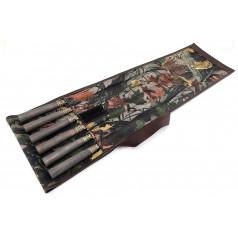 Набор шампуров с деревянной ручкой (Мореный дуб) из нержавеющей стали