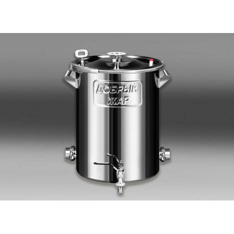 """Бак """"Добрый жар"""" кламп 1,5, 50 литров с двумя выходами под ТЭН (кламп 2)"""