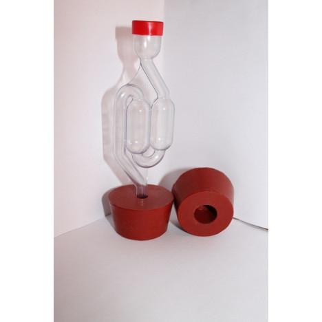 Пробка силиконовая для бутылей №9 50*42/25 с каналом 10 мм