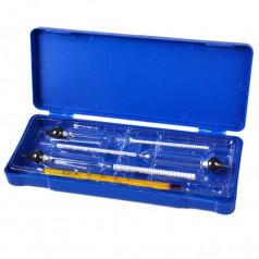 Набор ареометров с термометром в пластиковом боксе