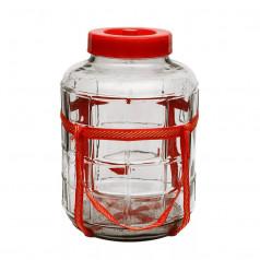 Банка стеклянная с гидрозатвором, 18 литров