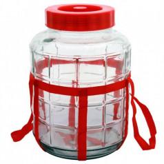 Банка стеклянная с гидрозатвором, 23 литра
